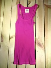 HOLLISTER CO WOMEN'S CLOTHING SMALL S PINK LACE RACERBACK TANK TOP SHIRT