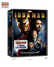 Iron Man 1 2 3 Full Movie Film Collection DVD Set Complete Robert Marvel Show