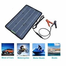 12V 10W PV Solar Panel Trickle Battery Charger for Car Boat Camping Winter Jump