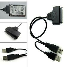 "USB 2.0 a SATA 7+15 22 Pin Adaptador Cable para 2.5"" HDD Unidad De Disco Duro"