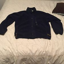 Patagonia Synchilla Fleece Jacket Men's L Made In USA Navy Blue Full Zip