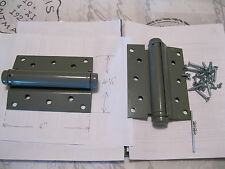 2 NEW HEAVY DUTY 6X6 SINGLE ACTION SPRING DOOR HINGES~SELF CLOSING~GATE~ENTRANCE