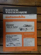 REVUE TECHNIQUE N°411 MAI 1981 PEUGEOT 604 D TURBO GRD et SRD (B11)