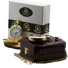 MUHAMMAD ALI Signed 24k Gold Pocket Watch with in Luxury Wood Gift Case Limited