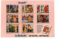 Publicité Advertising 1981 (2 pages) Le catalogue la Redoute