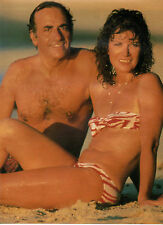 COUPURE de presse PHOTO CLIPPING  JEAN PIERRE ELKABBACH et sa femme NICOLE AVRIL