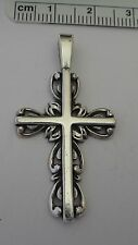 Sterling Silver 43x23 mm Large Beautiful Cross Pendant Charm