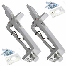 2 x ALUMINIUM LEVER ACTION FLUSH BOLT DOOR LOCKS Silver/Slide/French/Double