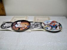 Knowles Disney collector plates: Pinocchio 1989 & 1990 with COA's