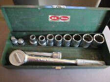 "Vintage 1/2"" drive SK Wayne Socket Wrench And Sockets"