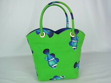 Auth KENZO Logos Clownfish Pattern Canvas Tote Hand Bag made in France