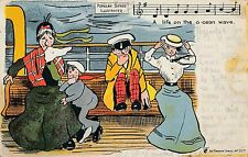 POSTCARD  COMIC   Popular  Songs  life on the ocean wave...