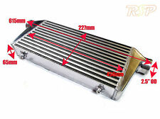 "Universal Alloy Intercooler 450mm 227mm 65mm Core Size Up To 450bhp 2.5"" Inlet"