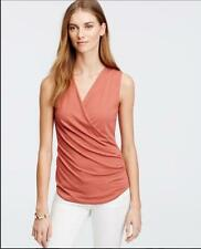 NWT Ann Taylor Crepe Wrap Shell Top  L Tall  $49.50