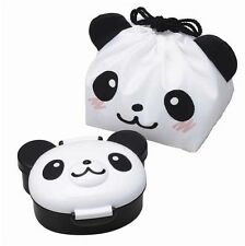 Japanese Bento Lunch accessories PANDA KAWAII LUNCH BOX & DRAWSTRING BAG SET