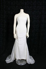 VERA WANG WEDDING GOWN bridal dress strapless lace trumpet Chapel Train sz 6