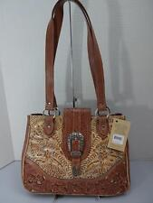 AMERICAN WEST ANNIE'S SECRET CONCEALED CARRY ROSE/CRM TOTE BAG HANDBAG NWT $278R