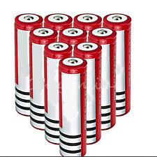 Elfeland 10PCS 18650 3800mAh 3.7V Li-ion Rechargeable Battery For Flashlight