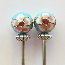 Size 0 single pointed knitting needles, 2mm diameter, cloisonne endcaps