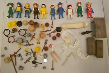 Vintage Playmobil Cowboys And Indians 10x figures lots of accessories, 1970's