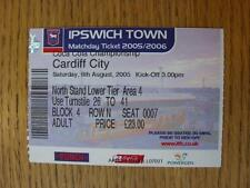 06/08/2005 Ticket: Ipswich Town v Cardiff City