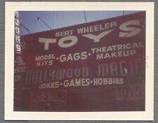 Vintage Color Polariod Photo Bert Wheeler Hollywood Magic Shop Sign 657737