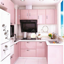 Gloss Pink DIY Vinyl Sticker Wallpaper Kitchen Cupboard Cover Removable Gift