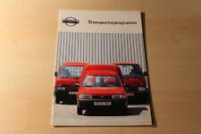 00359) Nissan Urvan Vanette Sunny Van Prospekt 10/1992