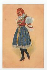 RUSSIE Russia Théme Types russes costumes jeune fille en costume traditionnel