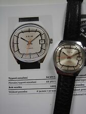 Mechanical watch PRIM Manufacture cal.64 from 1993. Fully restored, great runing