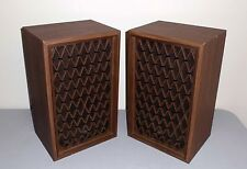Vintage PIONEER CS-22A Speakers Walnut Lattice Grills - Look and Sound GREAT