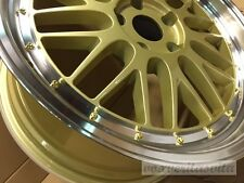 "18"" LM STYLE GOLD MESH LEMANS WHEELS RIMS FITS AUDI B5 B6 B7 B8 S4 SEDAN AVANT"