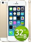 APPLE IPHONE 5S 32GB GOLD ORO GRADO B + ACCESSORI + GARANZIA 12 MESI - BIANCO