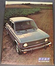 1978 Fiat 128 4-Door Sedan Sales Brochure Sheet Excellent Original 78