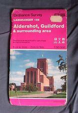 Ordnance Survey Landranger Map Sheet 186 - Aldershot & Guildford -1:50 000 1990