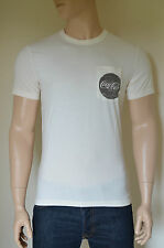 NEW Abercrombie & Fitch Coca-Cola Coke Vintage Graphic Tee T-Shirt White L