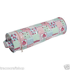 Yarn and Needle Holder Bag Knit Bag - Patchwork Floral Easy Wipe Clean Vinyl