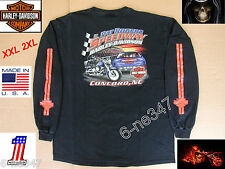 Harley Davidson Long Sleeve Motorcycle Pat Rogers Speedway Concord T shirt USA