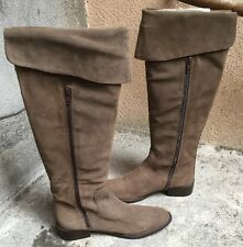 DESTOCKAGE NEUF BOTTES MARQUE IMPACT CUIR TAUPE @ T 37 @ 149€ @ N860 NEW !!