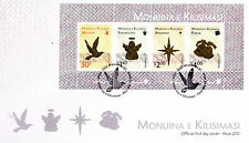 Niue 2013 FDC Christmas 4v M/S Cover Birds Angel Star Bells Monuina Kilisimasi