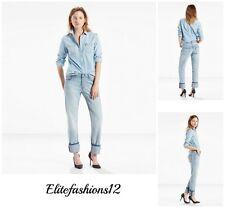 """Levi's Womans 501 Boyfriend Jeans """" Foamy Blue """" Size 28 x 32 Style # 125010217"""
