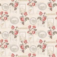Miniatura Per Casa Delle Bambole Rose Rosse E Cornici Carta Da Parati