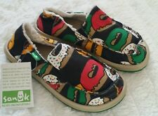 NWT! SANUK Boys Lil Munchies Chill Sandal Shoes Youth Kids Irie Glazed Sz 13