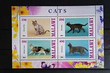 Katzen 33 cats Chats Tiere animals pets Fauna Block KB sheets postfrisch ** MNH