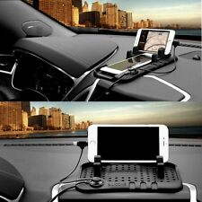 Cool Car Holder Dashboard Stand USB Mount Charger Cradle Non-Slip Pad for iPhone