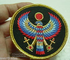 WINGED HORUS SEW ON CLOTHING PATCH - Wicca Pagan Witch Goth EGYPTIAN GOD