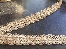 1M  GOLD BRAID METALLIC LACE RIBBON TRIM 19 MM WIDE