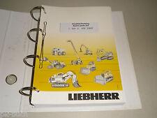 Ersatzteilkatalog Spare Parts List Liebherr Radlader L 524, Stand 09/2010