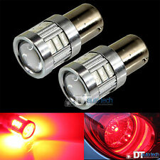 2X 1157 High Power Chip LED Projector Red Turn Signal Brake Tail Light Bulbs