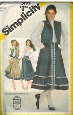 5191 UNCUT Simplicity Sewing Pattern Misses Blouse Skirt Quilted Vest Gunne Sax
